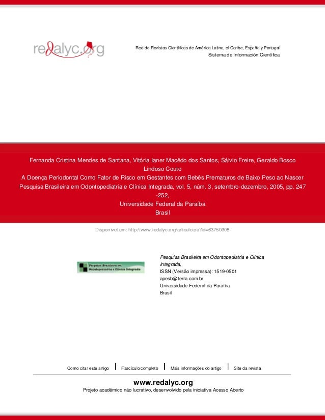 Disponível em: http://www.redalyc.org/articulo.oa?id=63750308 Red de Revistas Científicas de América Latina, el Caribe, Es...