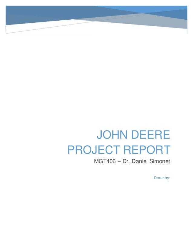 mgt406 john deere project report