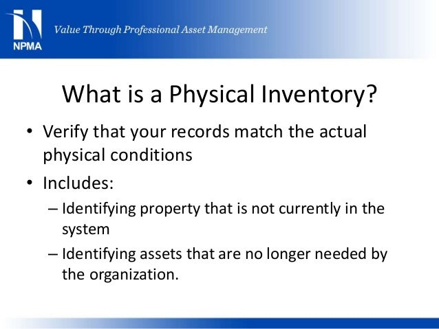 npma physical inventory beyond scanning and checking the box