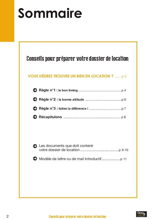 Dossier Candidature Location Appartement