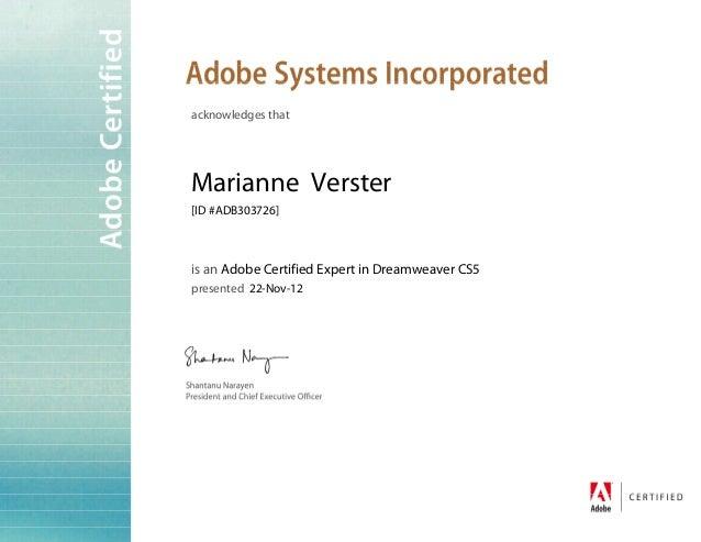 Adobe ACE Certificate