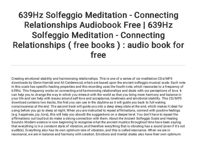 639 hz frequency connecting relationships dating