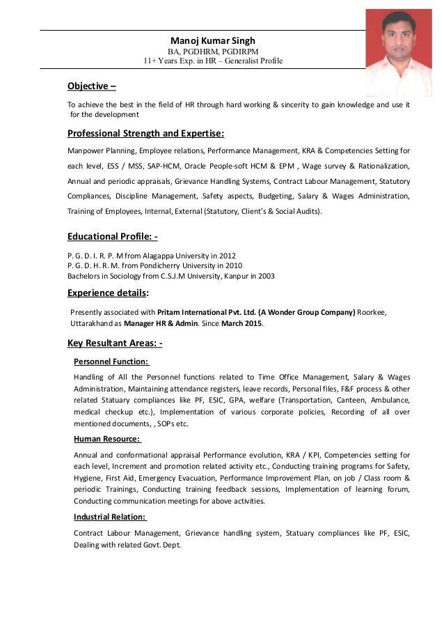 CV - Manoj singh 27-04-15