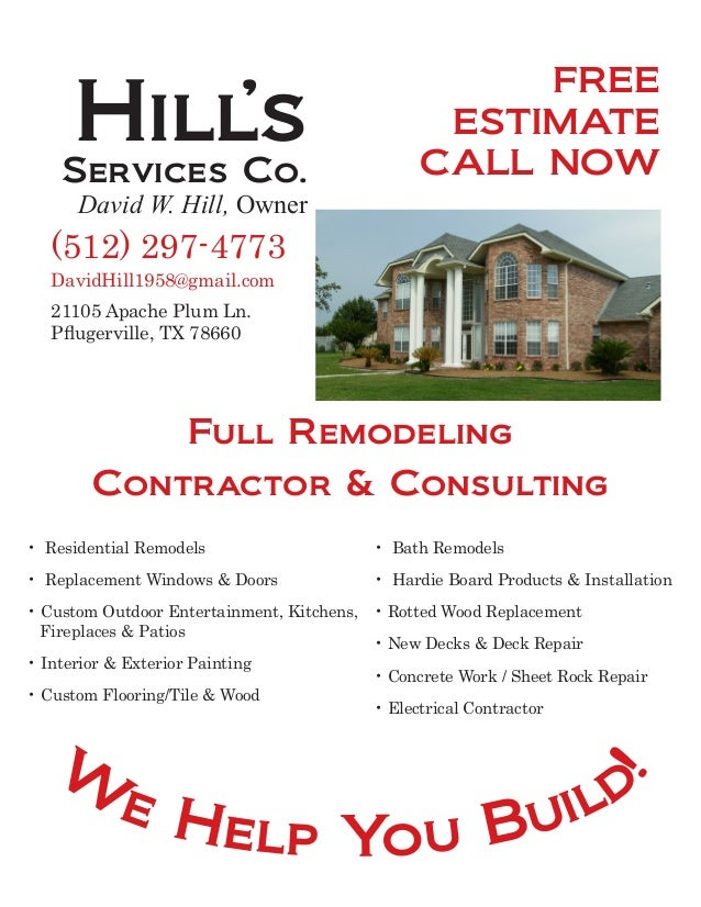 Construction Services Flyer : Hills flyer