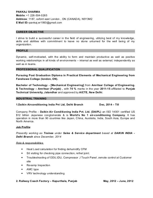 Career Objective Of Resume For Freshers In It Vosvetenet – Objectives of Resume for Freshers
