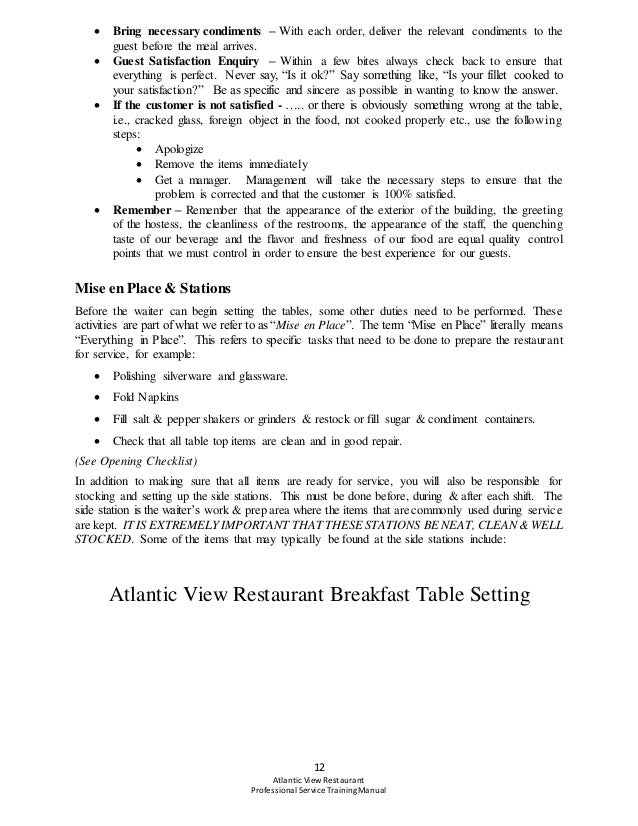staff training manual for restaurant owners Manualtemplateorg a restaurant training manual template is a booklet that formally outlined by the owner of restaurant where he/she can list out the information and instructions regarding to the jobs of restaurants along with the policy matters of business is called a restaurant manual.