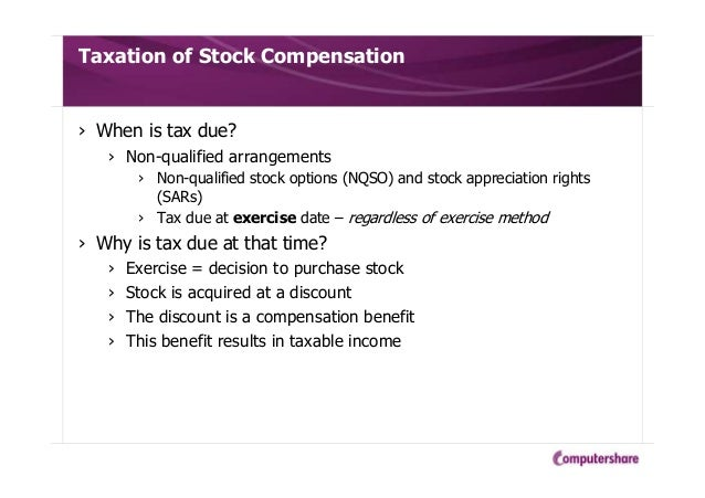 Tax strategies for non qualified stock options