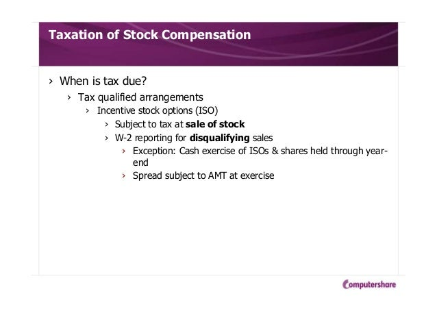 Irc 422 incentive stock options