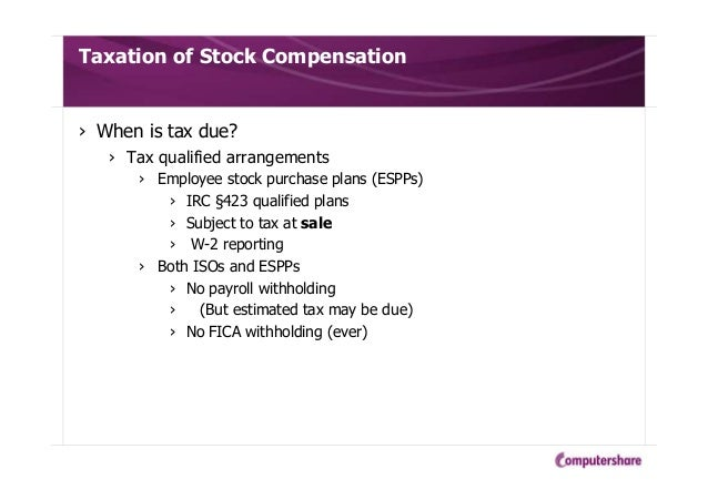 Tax withholding on non-qualified stock options