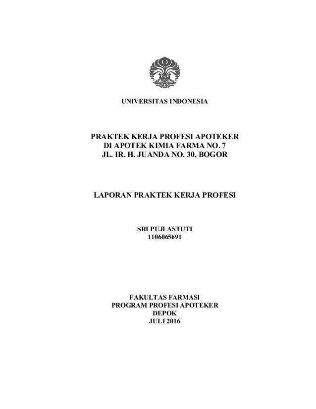 Sri Puji Astuti Laporan Pkpa Di Apotek Ff Full Text 2016