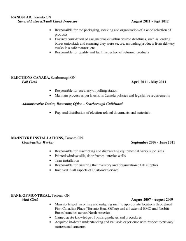 2 - Copy Of A Good Resume