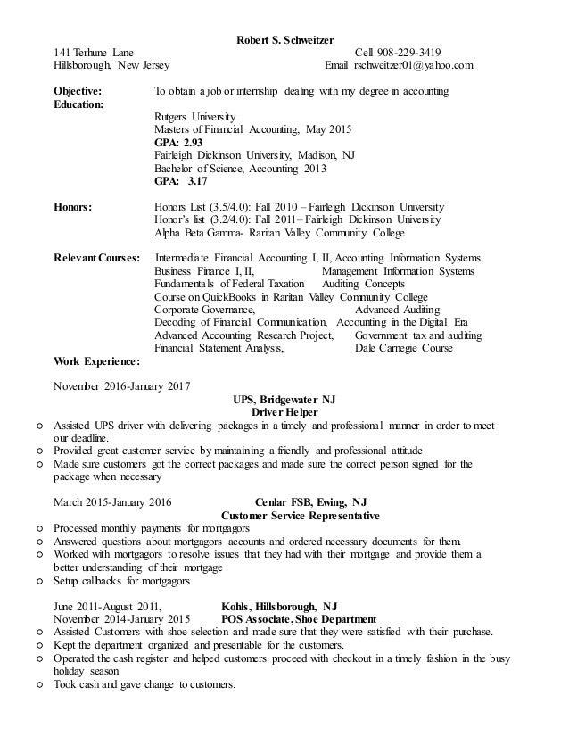 Robert Schweitzer resume