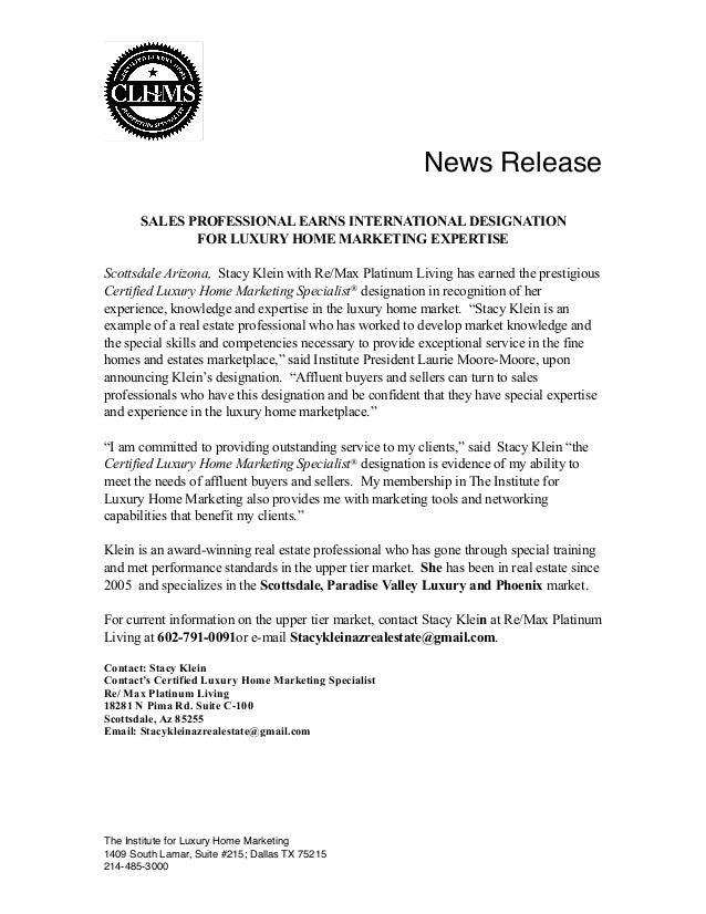 Clhms News Release