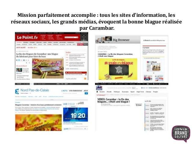 L'historique de l'opération Carambar en 2 minutes : « Carambar les coulisses de la blague de l'année ». https://www.youtub...