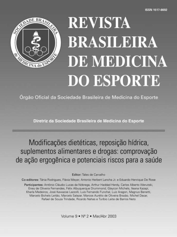 ARTIGOORIGINAL                          Diretriz da Sociedade Brasileira de Medicina do Esporte             Modificações d...