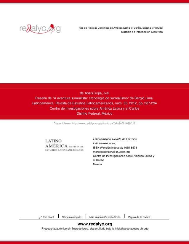 Disponible en: http://www.redalyc.org/articulo.oa?id=64024698012 Red de Revistas Científicas de América Latina, el Caribe,...