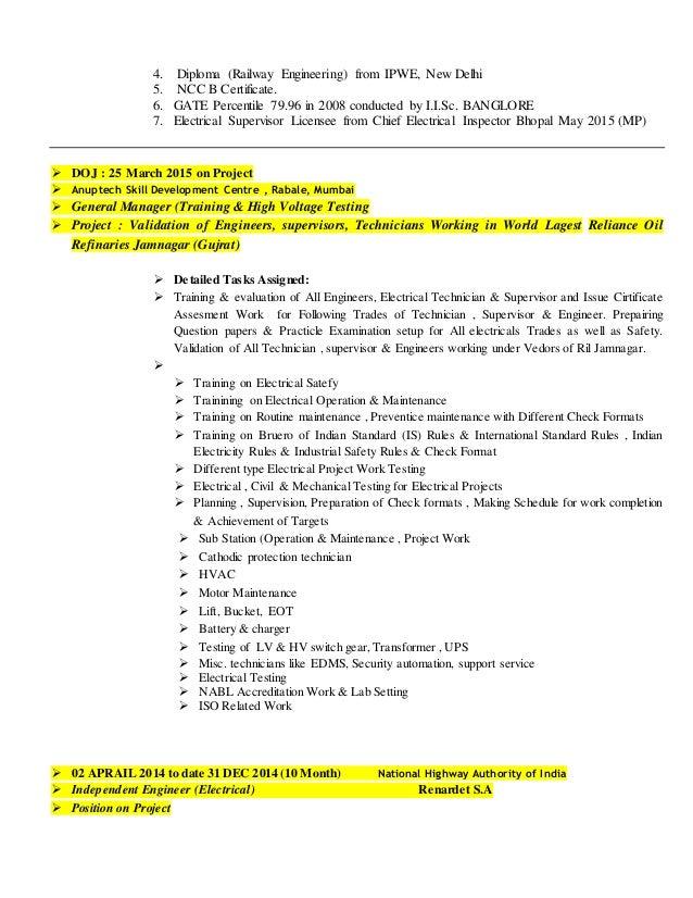 transformer testing engineer resume