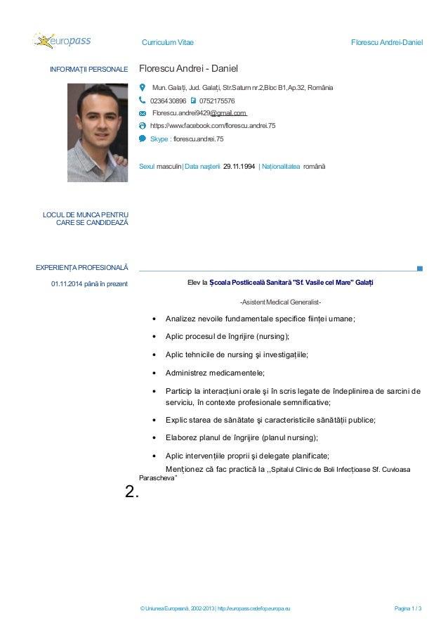 curriculum vitae europass completat elev