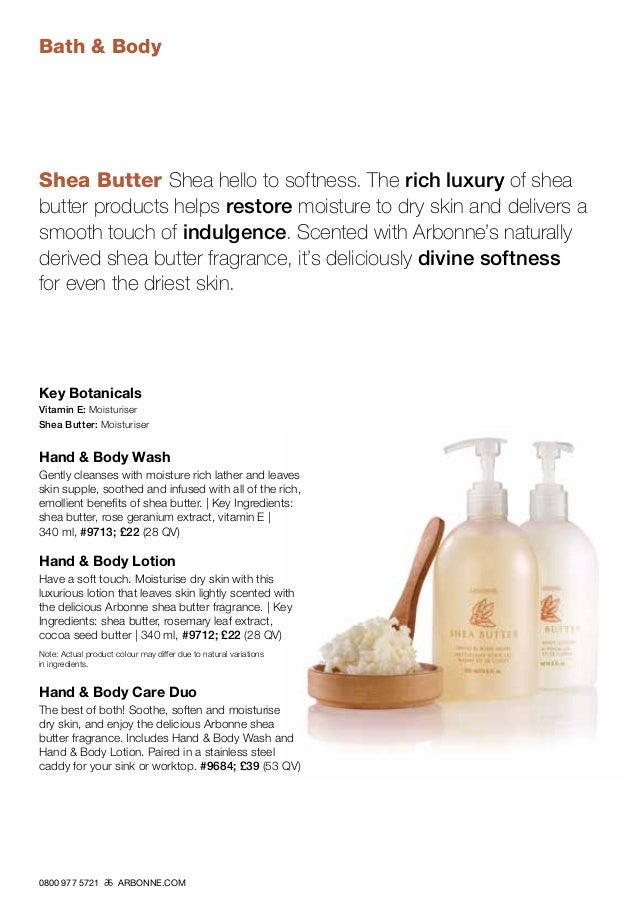 Arbonne Product Catalogue for the UK