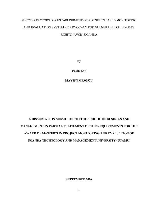 Dissertation id e directrice