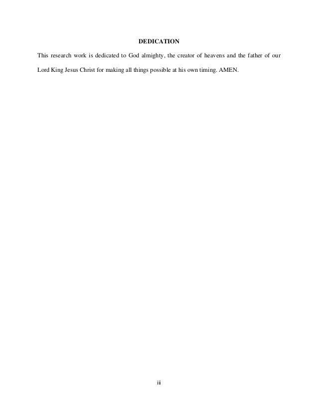 dissertation dedication