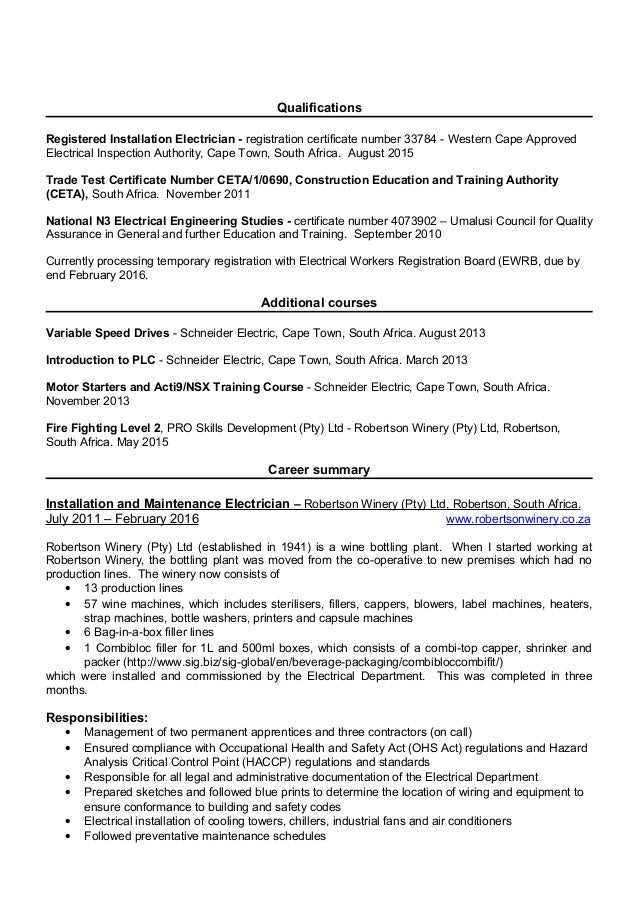 resume schenck  morne february 2016