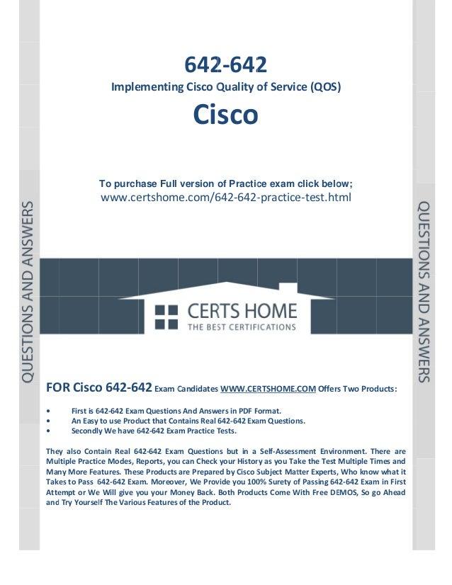 P a g e  1          642 2 2‐642  Imple ementing gCiscoQ Qualityo ofServic ce(QOS)  Cisco o    To purch...