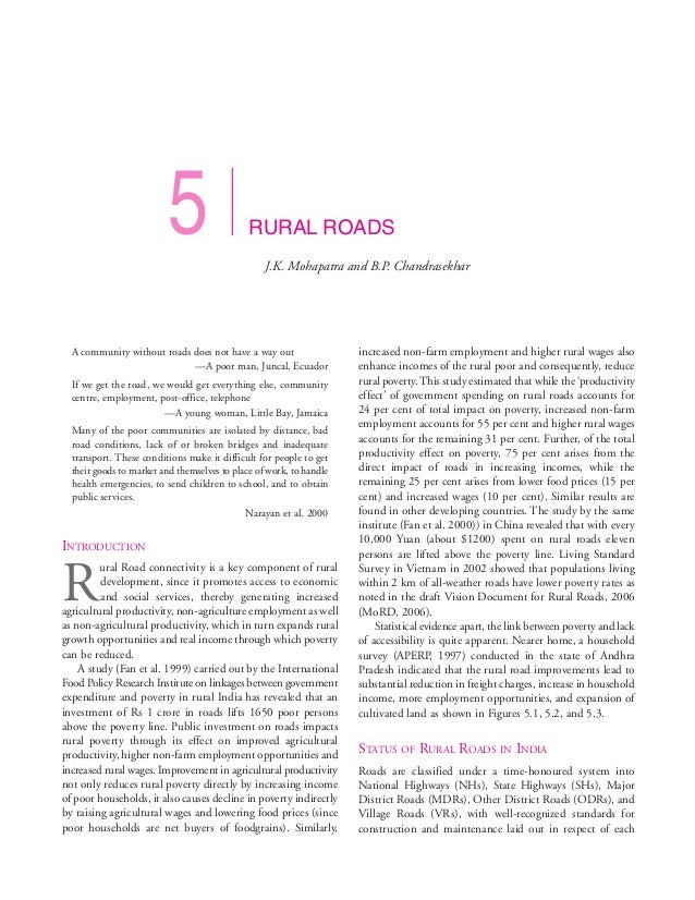 5                    RURAL ROADS                                                  J.K. Mohapatra and B.P. Chandrasekhar  A...