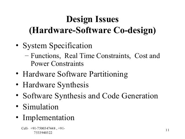 EMBEDDED SYSTEM DESIGN ISSUES PDF DOWNLOAD