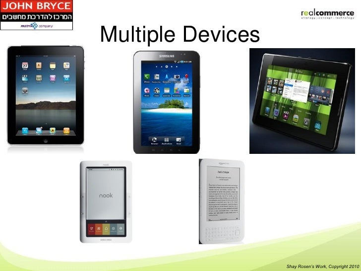 Multiple Devices                   Shay Rosen's Work, Copyright 2010