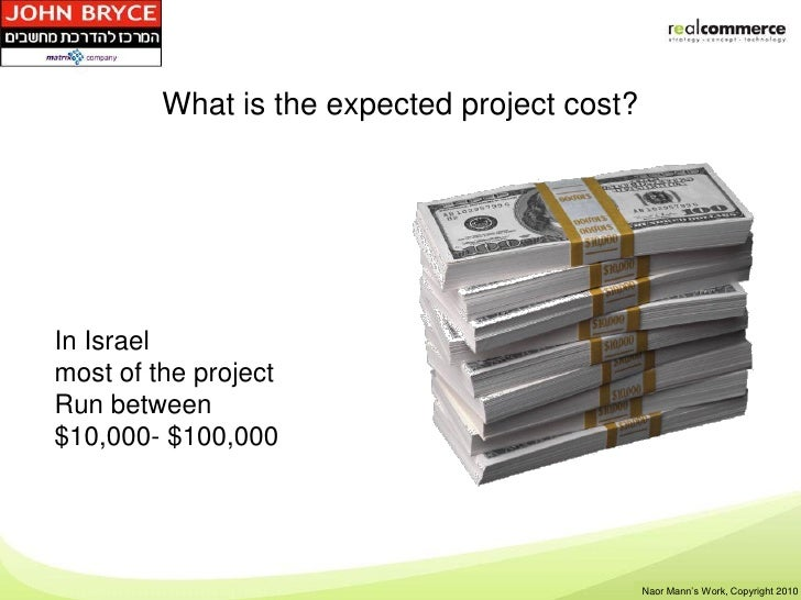 What is the expected project cost?In Israelmost of the projectRun between$10,000- $100,000                                ...