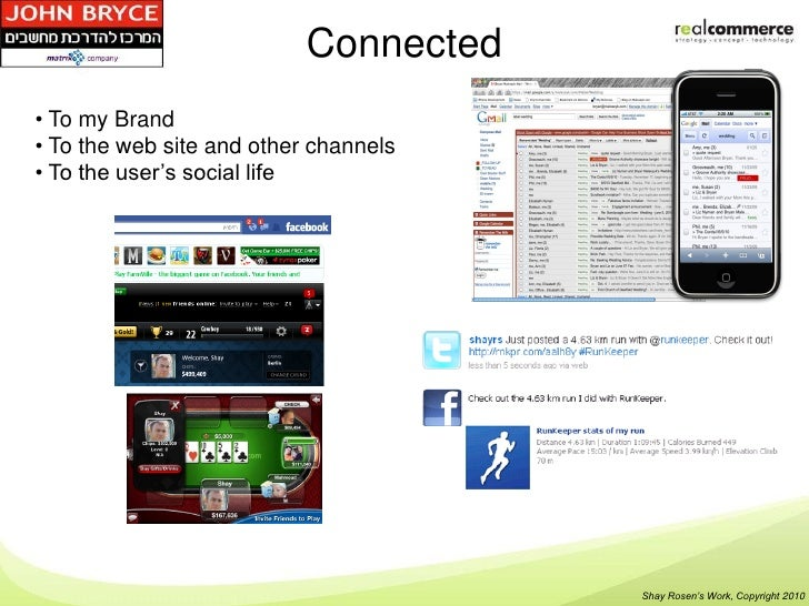 Connected• To my Brand• To the web site and other channels• To the user's social life                                     ...