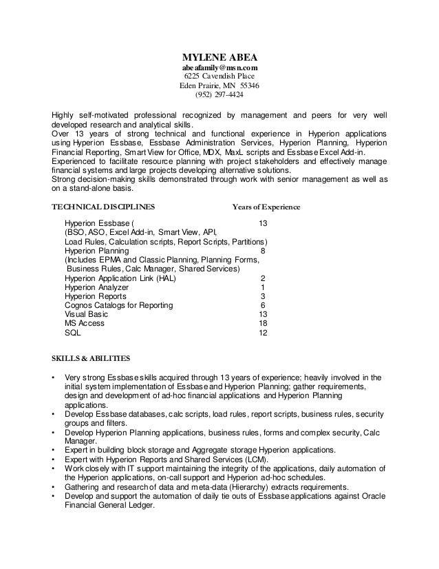 Mylene Abea Resume Dec 1015