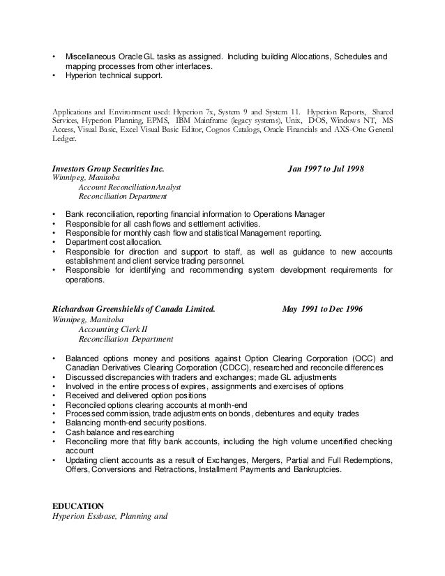 Perfect Winnipeg Accounting Resume Pattern - Administrative Officer ...