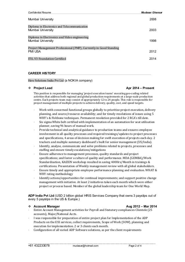 Mudasar Ghansar 2015 Resume Slide 2