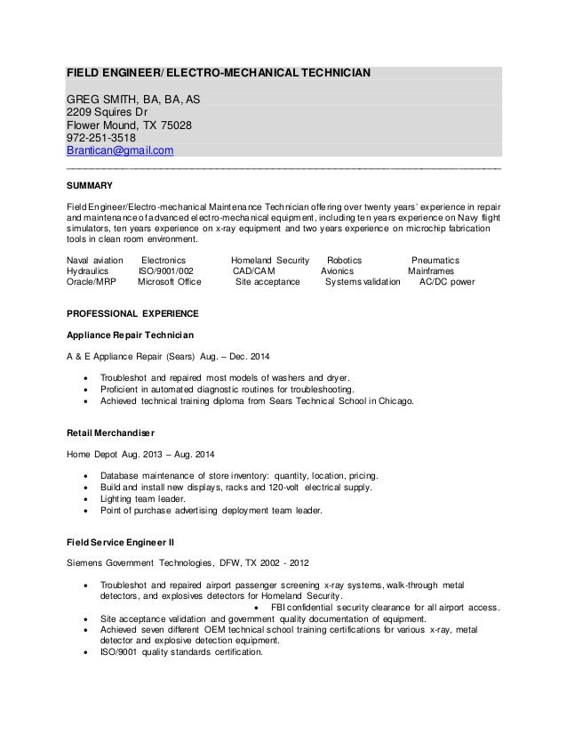 greg smith s resume