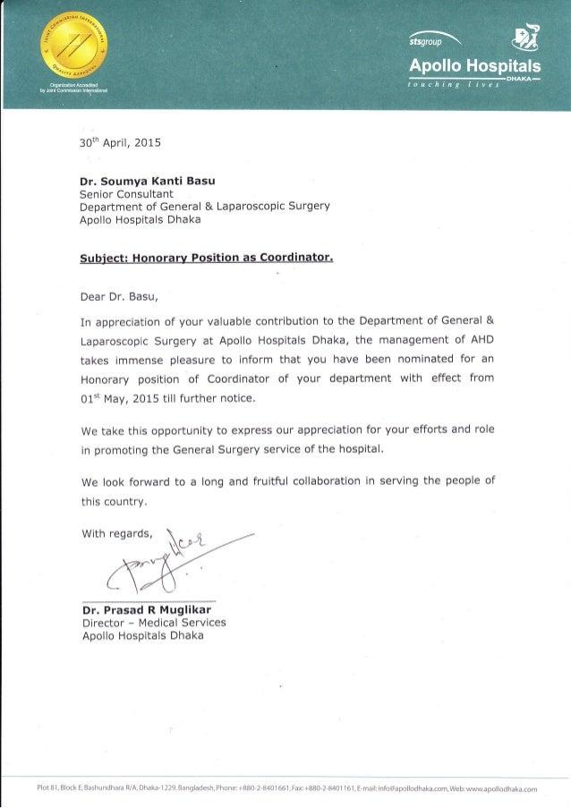 3Oth April, 2OI5 Dr. Soumya Kanti Basu Senior Consultant Department of General & Laparoscopic Surgery Apollo Hospitals Dha...
