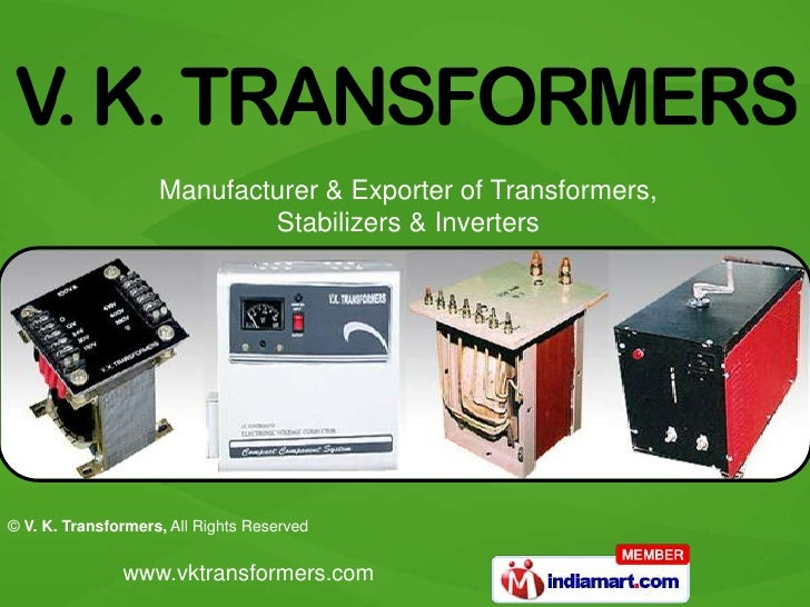 Manufacturer & Exporter of Transformers, Stabilizers & Inverters<br />