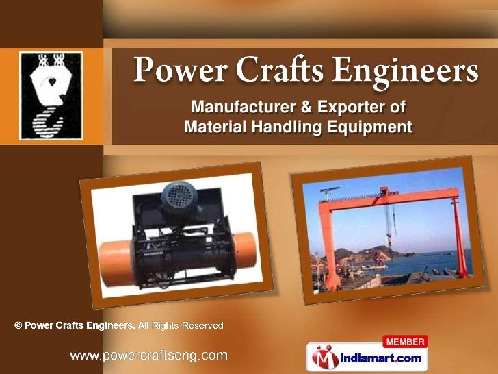 Manufacturer & Exporter ofMaterial Handling Equipment