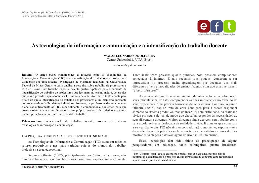 As tecnologias da informação e da comunicação