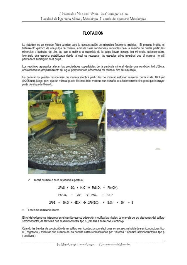 """Universidad Nacional """"San Luis Gonzaga"""" de Ica Facultad de Ingeniería Minas y Metalurgia - Escuela de Ingeniería Metalúrgi..."""