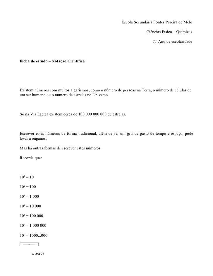 Escola Secundária Fontes Pereira de Melo                                                                           Ciência...