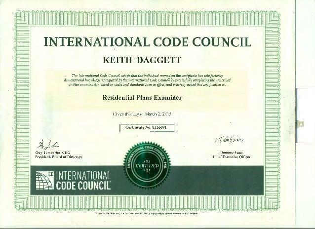 icc certificate council code international daggett slideshare individual upcoming
