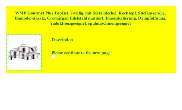 WMF Chef´s Edition Stielkasserolle Ø 24 cm mit Deckel