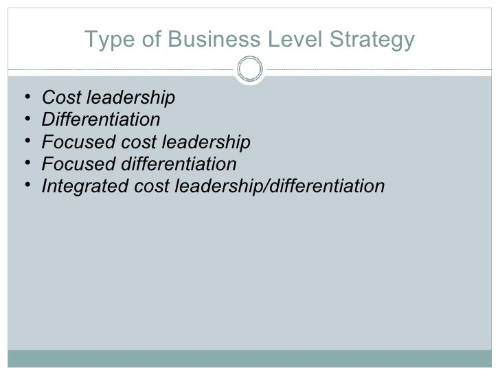 factors of choosing cost leadership and product differentiation in international business Strategic leaders are people located in different parts of the firm using strategic management to help the firm reach vision and mission a single-product strategy d) a cost leadership strategy cost-leadership, differentiation c) business-level, cost-leaderhip, differentiation d.