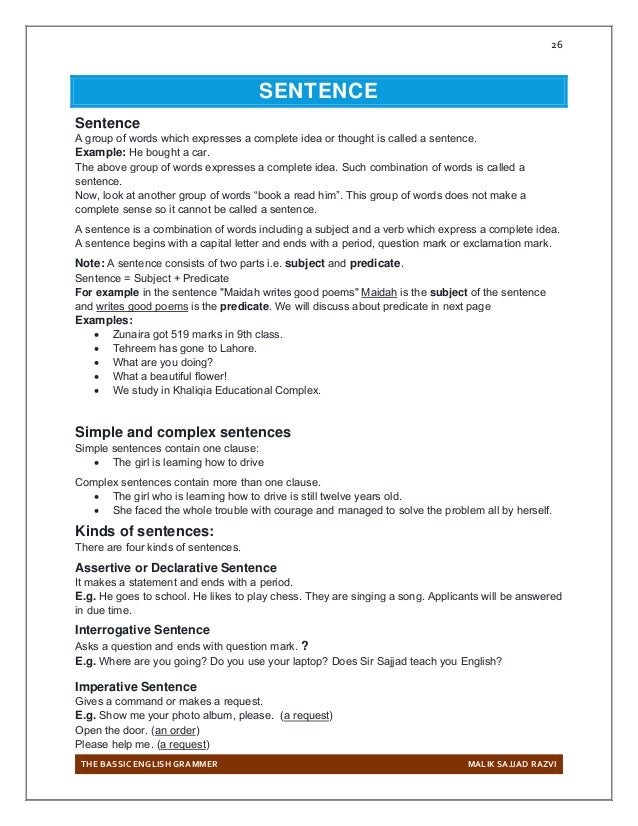 Grammer complete Notes