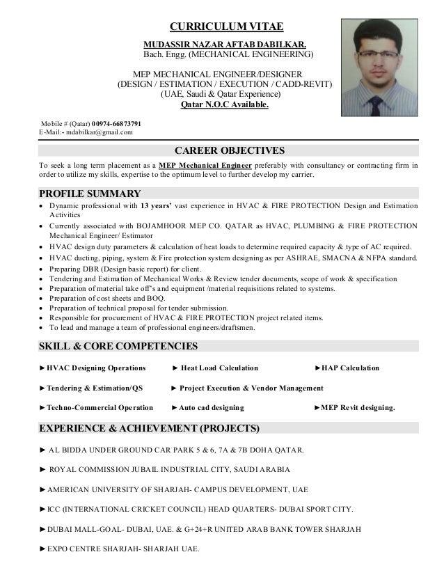 MEP Machanical Engineer (Design, Estimation, Execution, Cad