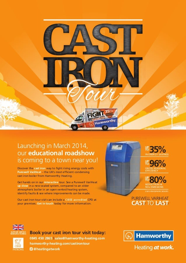 REDUCTION IN NOx EMISSIONS GROSS SEASONAL EFFICIENCY 35%IN ENERGY SAVINGS 96% 80% UP TO UP TO UP TO Book your cast iron to...