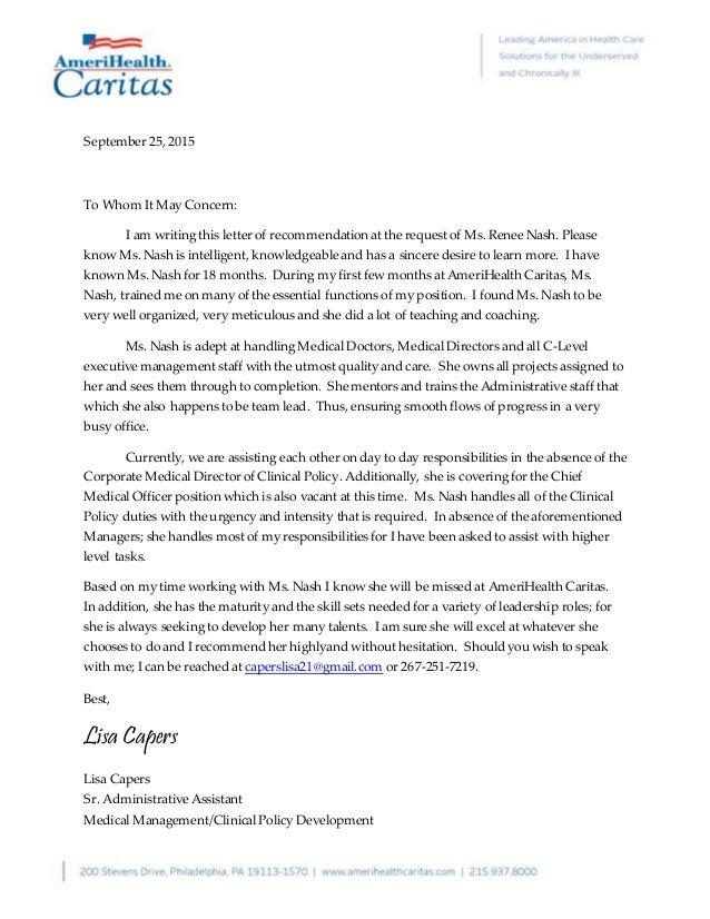 Recommendation letter for medical doctor akbaeenw recommendation letter for medical doctor recommendation letter from lisa capers recommendation letter for medical doctor expocarfo Choice Image