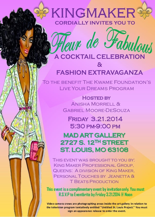 CORDIALLY INVITES YOU TO Hosted by Anisha Morrell & Gabriel Moore-DeSouza MAD ART GALLERY 2727 S. 12TH STREET ST. LOUIS, M...